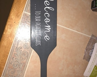 Wooden Welcome paddle