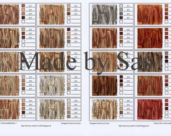 Copic Colour Combinations Wood