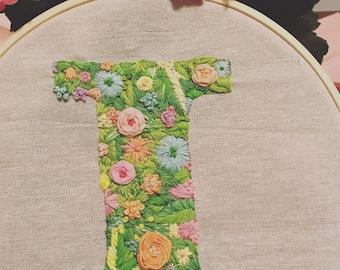 Custom Floral Lettering