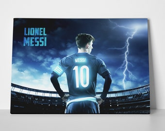 Lionel Messi Lightning Poster or Canvas