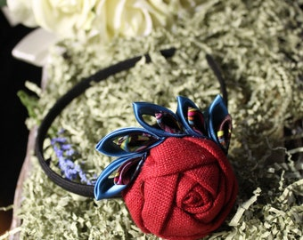Red Rose Elegant Handmade headbands
