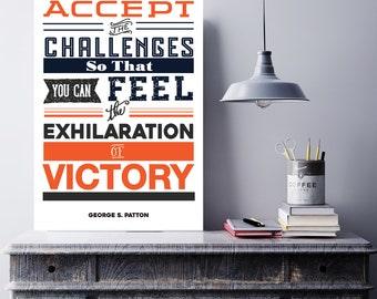 Motivational Poster -The Challenges