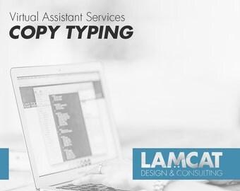 Copy Typing | Transcription, typing service, typist, audio transcript, virtual assistant