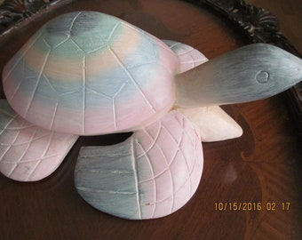 Carved Island Turtle from Hawaii