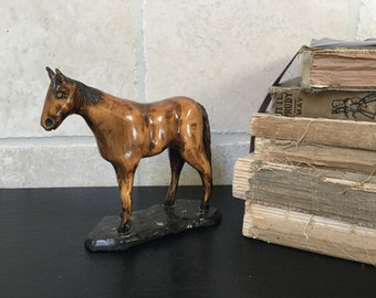 Hand Carved Horse Figure