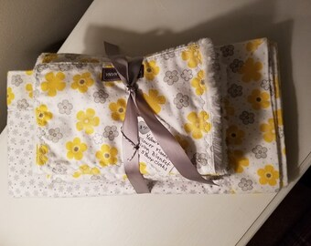 Blanket and Burp Cloth Set