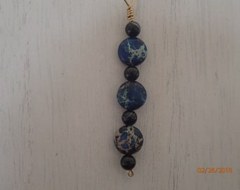 Imperial Blue Jasper Y Necklace