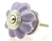 1 Möbelknopf lila 15013-E handbemalte indische Möbelknöpfe Möbelgriffe Möbelknopf Möbelknauf Keramik Shabby Kommode Vintage