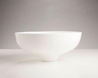 Handmade White Ceramic Large Elem Bowl