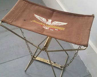 Vintage Fenwick Woodstream Folding Fishing and Camping Chair. Vintage folding hiking chair. Canvas and Metal folding chair.