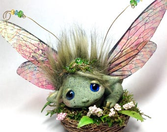 "Forest fairy Dragon Trollfling troll ooak ""Anya"" by Amber Matthies"