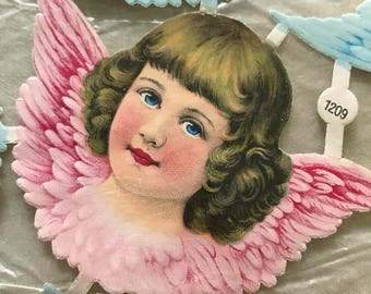 Large Angelic Faces  Angel Scrap Relief Die-Cuts