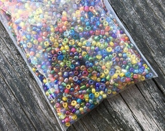 SALE Multicolored Seed Beads - 11/0