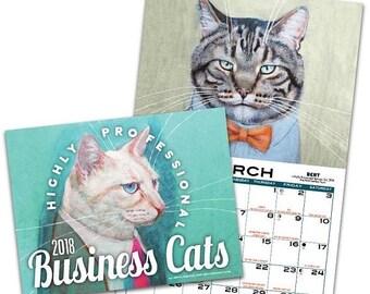 Clearance Business Cats Wall Calendar 2018