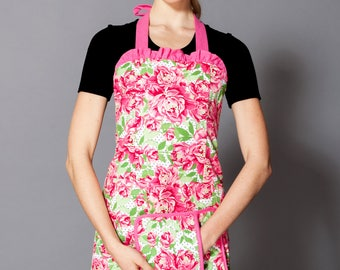 Pink Bloom Dots Allie Apron
