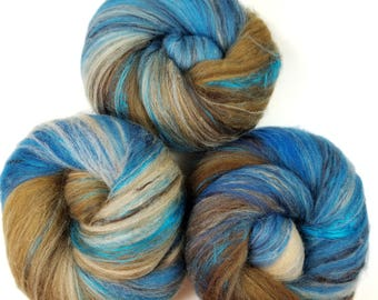 Squirrel Nest -- classic batts -- (4.2 oz.) organic polwarth wool and bamboo