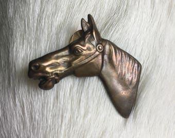 Brass Horse Pin