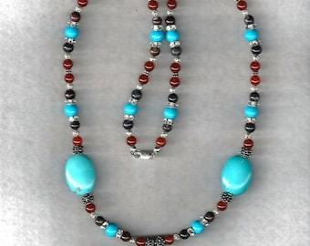 Turquoise & Gemstone Necklace