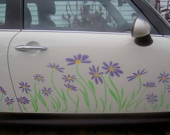 Daisy Decal Vinyl Stickers for Mini Coopers SIDE PANELS ONLY by Tonyabug Sticker Momma