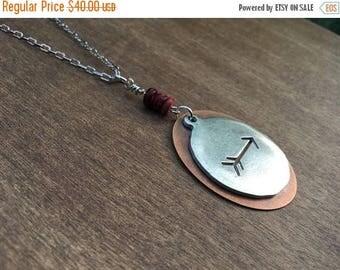 CRAZY SALE- Arrow Necklace-Mixed Metals Necklace