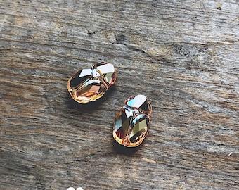 Pair of Topaz Scarab beads - DIY JEWELRY