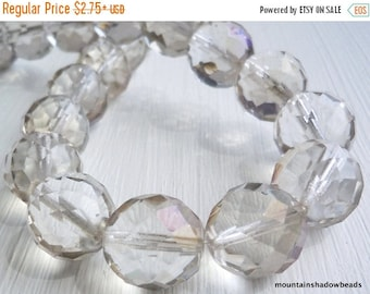 50% OFF Clearance Crystal Twilight Czech Glass Beads 14mm Faceted Round - 6