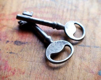 Antique Skeleton Keys - Matching Pair