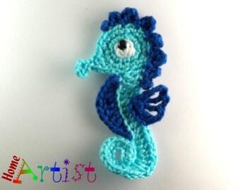 Crochet Applique Seahorse
