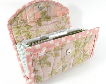 COUPON / EXPENSE / RECEIPT Organizer - Lilac Rose - Coupon Organizer Coupon Holder Cash Budget lavender pink