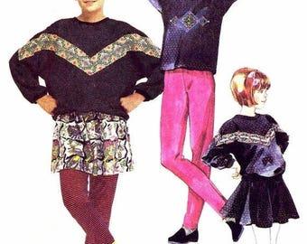 SALE Camp Beverly Hills Girls Top Skort Leggings McCalls 4611 Sewing Pattern Size 12 UNCUT