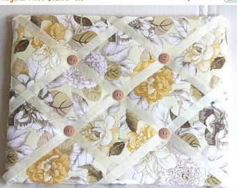 Christmas In July 30% Off Beige Flowers Memory Board French Memo Board, Waverly Shades Of Brown Photo Board, Ribbon Pin Board, Ribbon Photo