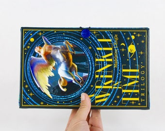 Book Clutch Purse -A Wrinkle in Time- made from recycled vintage book by Rebound Designs
