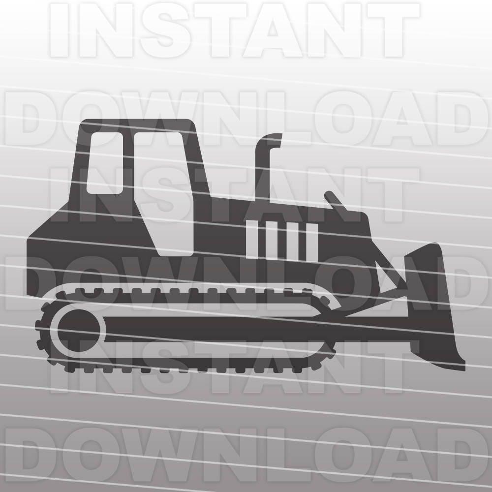 Bulldozer Construction Heavy Machinery Dozer Svg File