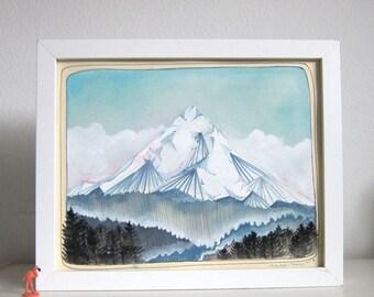 Art - Oregon Art - Mt Hood Painting - Mt Hood Art - Original Painting - Original Art - Mountain Art - Mountain Painting - Mt Hood