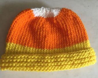 Child Candy Corn Knit Hat