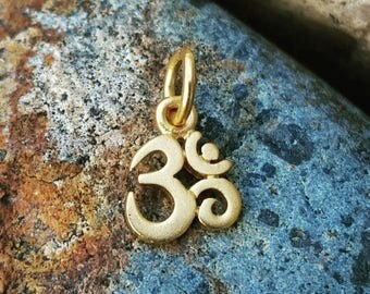 ON SALE TODAY Tiny Gold Om Charm - Very Small - Gold Om Necklace