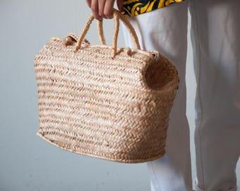 oversized straw market bag / large woven market bag / oversized straw purse / 1621a