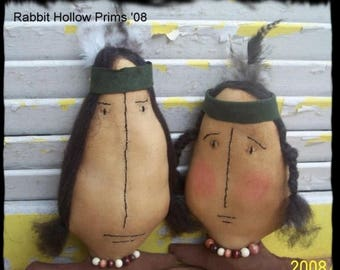 CustomerAppreciationSale Primitive Fall Tonto and Sacajawea Indians Set