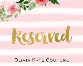 Reserved for Erica Flower Girl Dress RO
