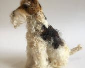 Felix the Needle Felted Wirehaired Fox Terrier Dog sculpture