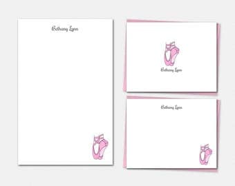 Personalized Stationery - Ballet Stationery Set - Dance Stationery - Dance Gifts - Ballet Gifts - Stationery for Girls
