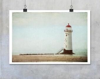 Point of Ayr Lighthouse Talacre Wales coastal beach sea seascape wall art home decor fine art photography photo big print poster