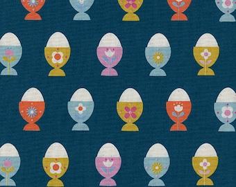 Cotton + Steel Welsummer - egg cups - navy - 50cm - PRE-ORDER