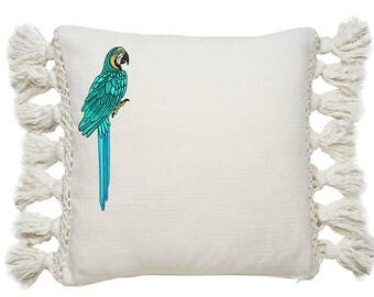 Machine Embroidery Blue Macaw Machine Embroidery File design 5x7 inch hoop