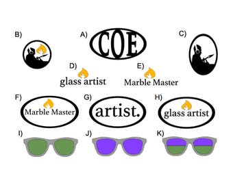 Aweeesome Glass DECALS (your choice)