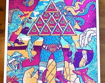 Ween Portland Maine Boognish Gigposter Argus Iluminati Transdermal Celebration Poster 2017 by GIGART