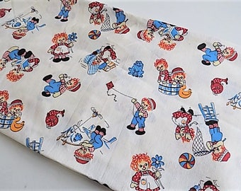 Vintage Cotton Kids Raggedy Ann and Andy