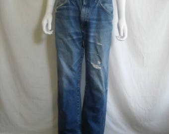 Closing Shop 40%off SALE Rustler Jeans distressed thrashed W 32 Waist   80s 90s
