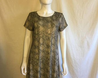Closing Shop 40%off SALE 90s snake skin print dress