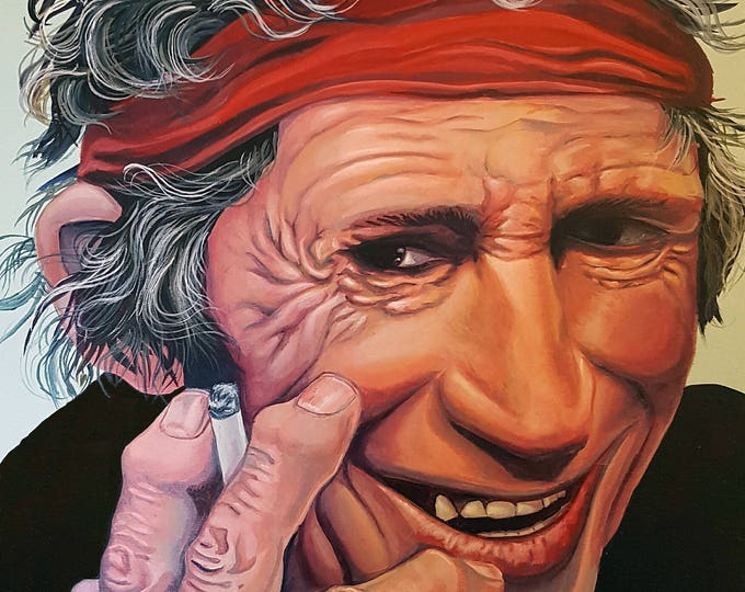 Keith Richards - Limited edition print by Mr. Hooper of Nashville, Tennessee